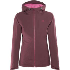 Salomon La Cote Insulated Jakke Damer rød